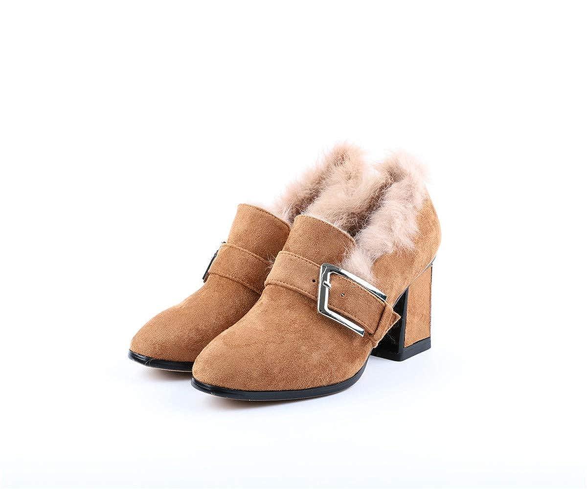 UENGF High Heel Hohe Ferse Frauen Fein Mit Baotou Frühjahr Wilden Spitzen Flachen Mund Einzelne Schuhe