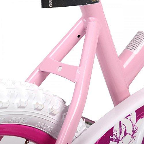 16'' Steel Frame Children BMX Girls Kids Bike Bicycle With Training Wheels by FDW (Image #2)