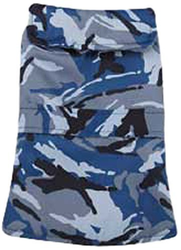 Casual Canine Camo Barn Pet Coat, Small, bluee by Casual Canine