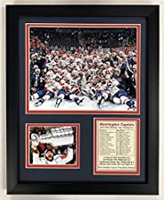 """Washington Capitals 2018 NHL Stanley Cup Champions Collectible   Framed Photo Collage Wall Art Decor - 12"""""""