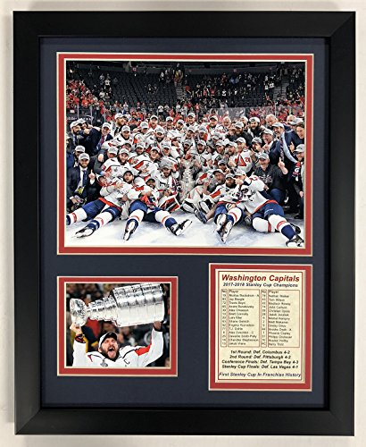 Legends Never Die NHL Washington Capitals 2018 Stanley Cup Framed Double Matted Photos, Celebration, 12