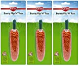 Superpet Bunny Flip N Toss Carrot (Pack of 3)
