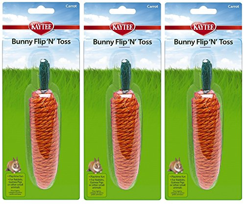 Superpet Bunny Flip N Toss Carrot (Pack of 3) by Kaytee (Image #1)