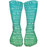 Funny Mother Teresa Anyway Girls Dress Socks Womens Crew Socks