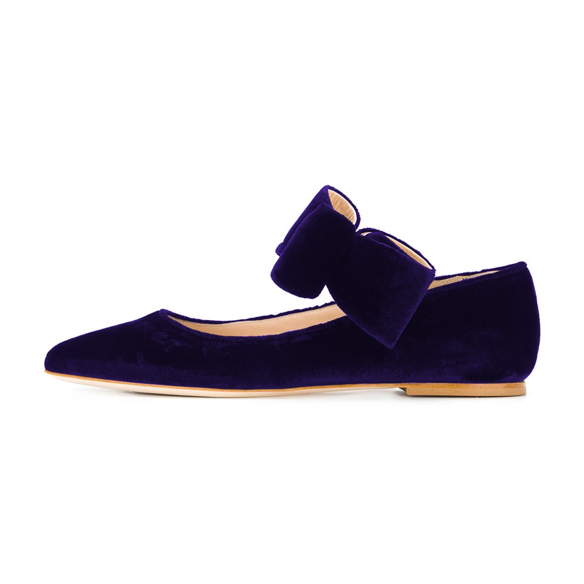 7c26db1578d9 ... FSJ Women Cute Pointed Pointed Pointed Toe Flats With Bowknot Velvet  Low Heels Slip On Comfy ...