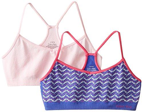 b39e4935f1 Calvin Klein Big Girls  Seamless Racerback Crop Bra (Pack of 2) - Buy  Online in Oman.