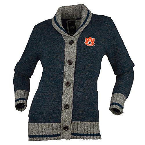 NCAA Auburn Tigers Womens Her Work Sock Button Upher Work Sock Button Up, Navy Mix, X-Small ()