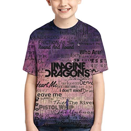 XINXINDY Imagine English Dragon Unisex Kids O Collar Short Sleeve T-Shirts Boy Girls Cool Tee Shirt Tops