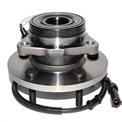Detroit Axle 515004 Single Front Wheel Hub and Bearing 5 lug Assembly for 1997-2000 Ford Expedition, 1998-2000 Lincoln Navigator (w/ 12mm Bolts, w/ABS, 4x4): Automotive