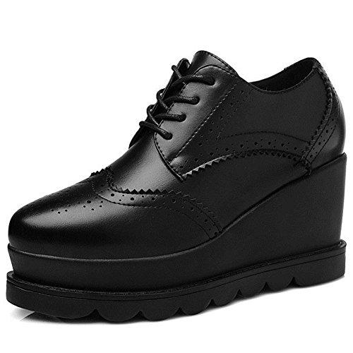 Women's Ticker Bottom Sneakers Platform Round Toe Chic Comfortable Walking Shoes