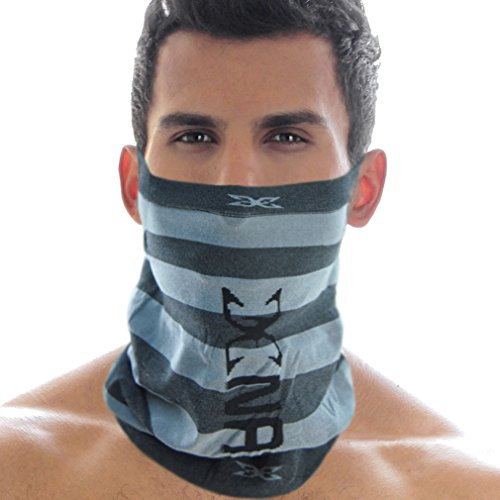 Basico Men's Face Tube Mask Neck Gaiter Dust Shield Seamless Bandana Balaclava (Grey)