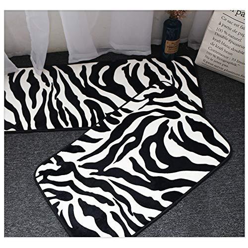 - Pragovle 20X32inch Non-Slip Memory Foam Indoor Mat for Bathroom Bedroom and Livingroom Rugs Carpet (Zebra)