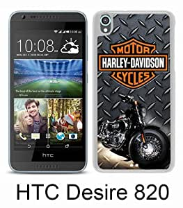 Harley Davidson White New Style Custom HTC Desire 820 Cover Case