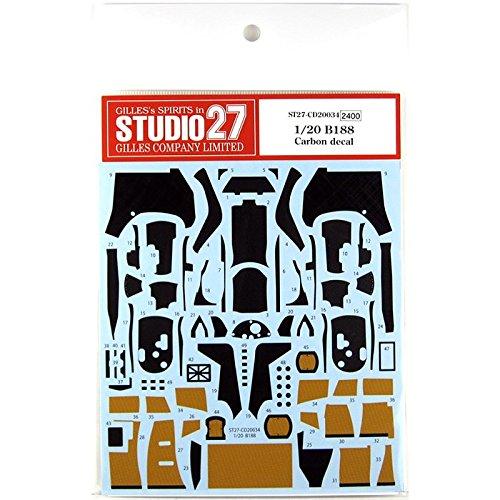 スタジオ27 1/20 B188 カーボン デカール タミヤ対応 STUDIO27 CD20034