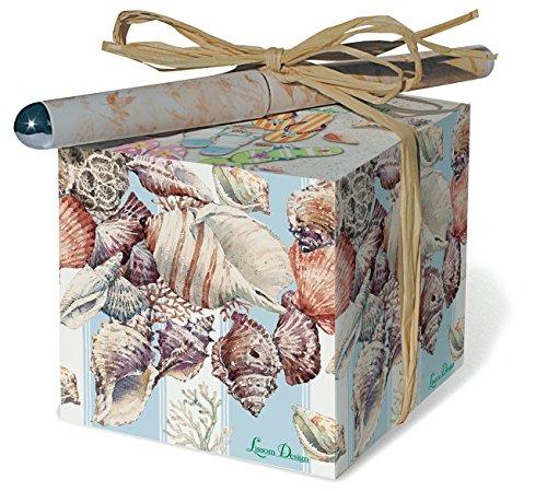 Seashells Notepad - Lissom Design Paper Block Set, Coastal Impressions