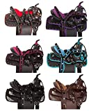 ME Enterprises Youth Child Synthetic Western Pony Miniature Horse Saddle Tack Get Matching Headstall, Breast & Collar Size 10″ to 12″ Inches Seat Available