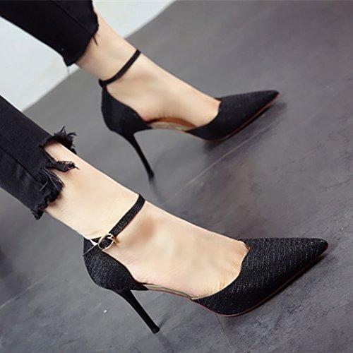 primavera Golden e alti calzatura taglienti tacchi sottili Donna tacchi di singola sottili FLYRCX Sandali alti Europeo e TvnaWqqOE