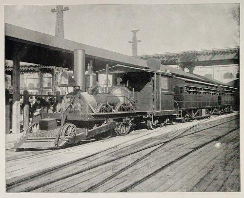 1893 Chicago Worlds Fair John Bull Train Railroad Photo - Original Halftone Print by PeriodPaper LLC-Collectible...