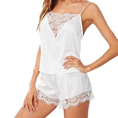 set di pigiami notte Bianca 2PCS WEIMEITE di Women pigiami Sleepwear Set da qxRvvYn08