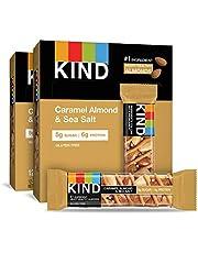 KIND Bars, Caramel Almond & Sea Salt, Gluten Free, Low Sugar