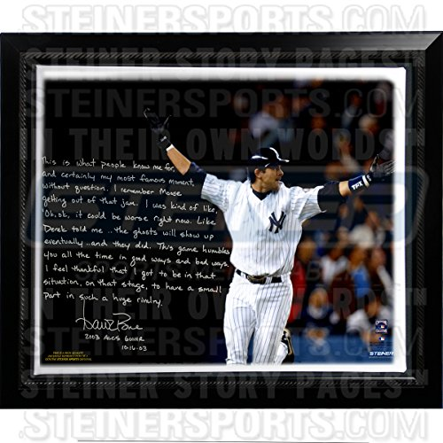Aaron Boone Facsimile 2003 Alcs Game 7 Walk-off Story Stretched Custom Framed 22 Inch X 26 Inch Story Canvas