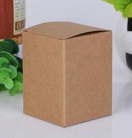 CTOBB 50 Cajas de cartón de 13 tamaños para Joyas, Regalos, Caramelos, Cajas de Regalo, jabón, Paquete de Papel de Embalaje, Color Blanco, Dark Khaki, 9x9x9cm: Amazon.es: Hogar