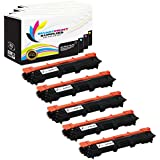 Smart Print Supplies TN221 5 Pack TN-221 Premium Compatible Toner Cartridge Replacement for Brother HL-3140CW 3170CDW, MFC-9130CW 9330CDW 9340CDW, DCP-9020CDW Printers (Black, Cyan, Magenta, Yellow)