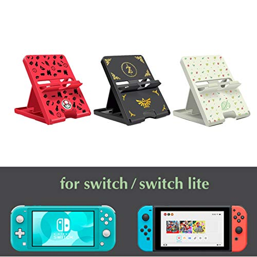 Playstand for Nintendo Switch,Switch Accessories Foldable Desk Holder Dock. Switch Lite Compatible (Mario)