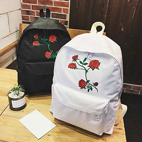 EMVANV - Mochila Bordada con Diseño de Rosas para Estudiantes ...