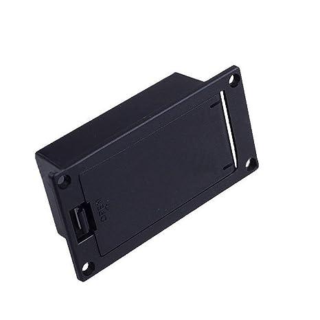 Caja de batería de 9 V para guitarras eléctricas y guitarras (universal, con soporte