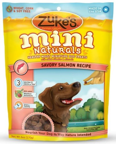 "Brand New ZUKE'S - MINI NATURALS DOG SALMON (6 OZ) ""DOG PRODUCTS - DOG TREATS - ALL OTHER"""