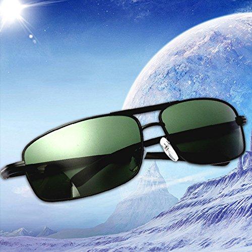 Bureze Vert de polarisées Homme Lunettes foncé conduite de air de soleil Sports Lunettes plein AA4wqg
