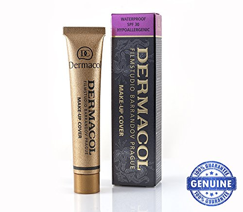 Genuine Dermacol High Cover Make-up Waterproof Hypoallergenic SPF-30 Foundation #210