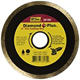 IVY Classic 38160 Diamond Plus 4-Inch Dry and Wet Tile Cutting Continuous Rim Diamond Blade with 20mm - 5/8-Inch Arbor, 1/Card
