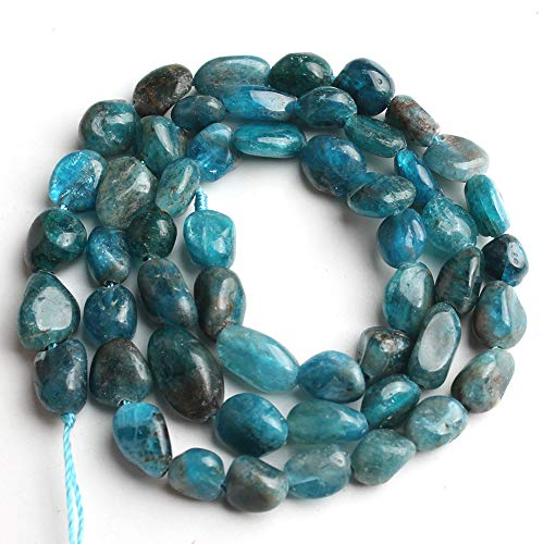 Love Beads Nature Stone Irregular Blue Apatite Stone Beads 6-8mm Beads for Jewelry Making DIY Beads Bracelets - Blue Beads Stone