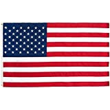 MCombo American Flag - 3x5' - 100% - Heavy Duty - Embroidered Stars - Sewn Stripes - 210D Oxford Nylon - Quadruple Stitched Fly End - Brass Grommets for Easy Display - U.S. Flag