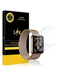 LK [6 Pack] Screen Protector for Apple Watch Series 4 40mm, LiquidSkin [HD Clear Anti-Bubble] with Lifetime Replacement Warranty