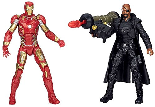 3.75 Inches Marvel Avengers Age of Ultron Movie Iron Man and Nick Fury Action Figures