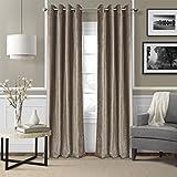 Cheap Elrene Home Fashions 026865796124 Blackout Energy Efficient Room Darkening Grommet Velvet Window Curtain Drape Regal Solid Panel, 52″ x 84″, Taupe