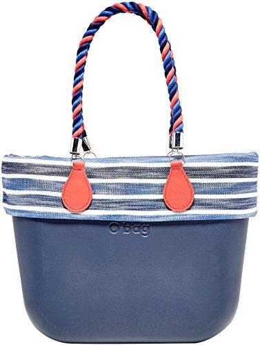 O bag B001_017 Zip, Borsa a Mano Donna, Multicolore (Blu Navy), 14x31x39 cm (W x H x L)