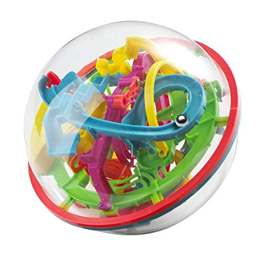 bulges Kids Unisex 3D Intellect Ball Maze Ball Game Puzzle Toy with 100 Challenging 3-D Puzzles from bulges