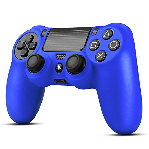TNP PS4 Controller Case (Navy Blue) - Soft Anti-Slip Silicone Grip Case Protective Shell Cover Skin for Sony Playstation 4 PS4 Wireless Game Gaming Controller [PlayStation 4]