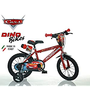 "Cicli Puzone Bici 14"" Cars Dino Bikes Art. 414 U-CS3 New Model"