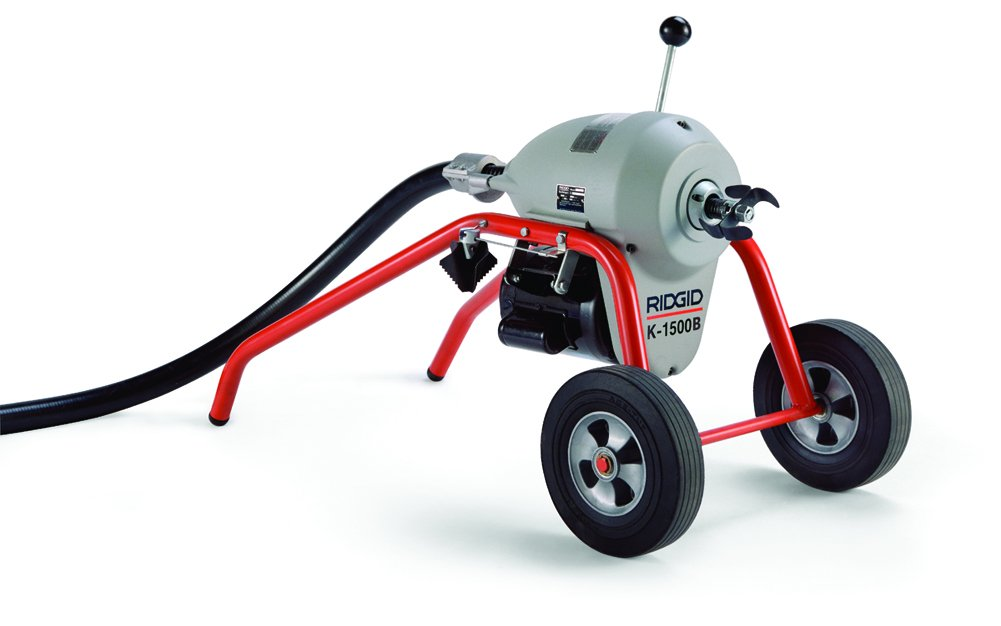RIDGID 23712 K-1500A Sectional Machine, A-Frame Sectional Sewer Machine with Easy Plumbing Cable Changes, Drain Cleaning Machine