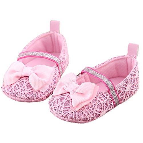 Leap Frog  Lace Mary Jane, Baby Mädchen Lauflernschuhe, rosa - rose - Größe: 6-12 Monat