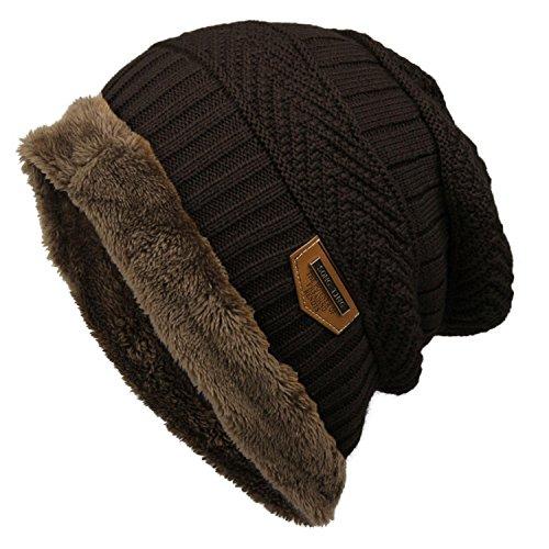 Xixou Women Men Fashion Fleece Contrast Color Beanie Knitted Warm Winter Hat Hats & Caps