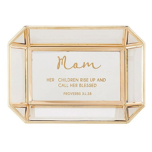 AT001 Mom - Proverbs 31:28 Tabletop Tray, 7'' X 5''. by AT001