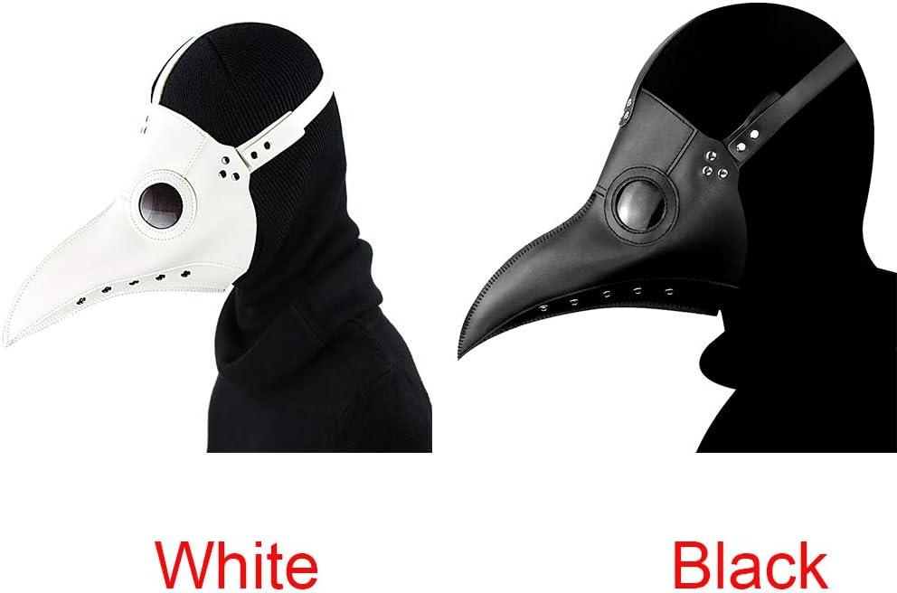 Kingbra Halloween Steampunk Plague Doctor Mask Black Latex Cosplay Bird Beak Masks Long Nose Party Event Ball Costume Props