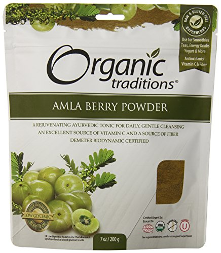 Organic Traditions Organic Powder, Amla, 7 Ounce (Pack of 12) by Organic Traditions