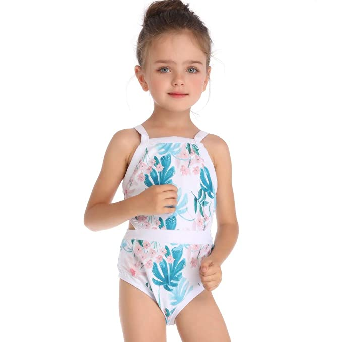 54a4abe831479 FDSD Baby Clothes Toddler Girls One-Piece Swimsuit Floral Print Beach Bathing  Suit Swimwear Outfit